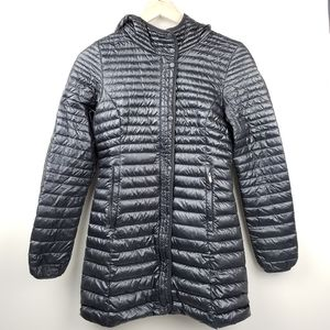 Patagonia Fiona Hooded Down Parka Black Long Puff